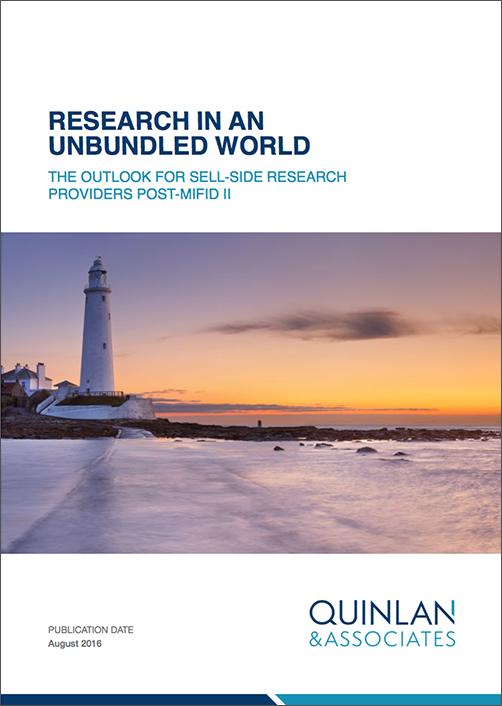 Quinlan & Associates Insights: Research in an Unbundled World